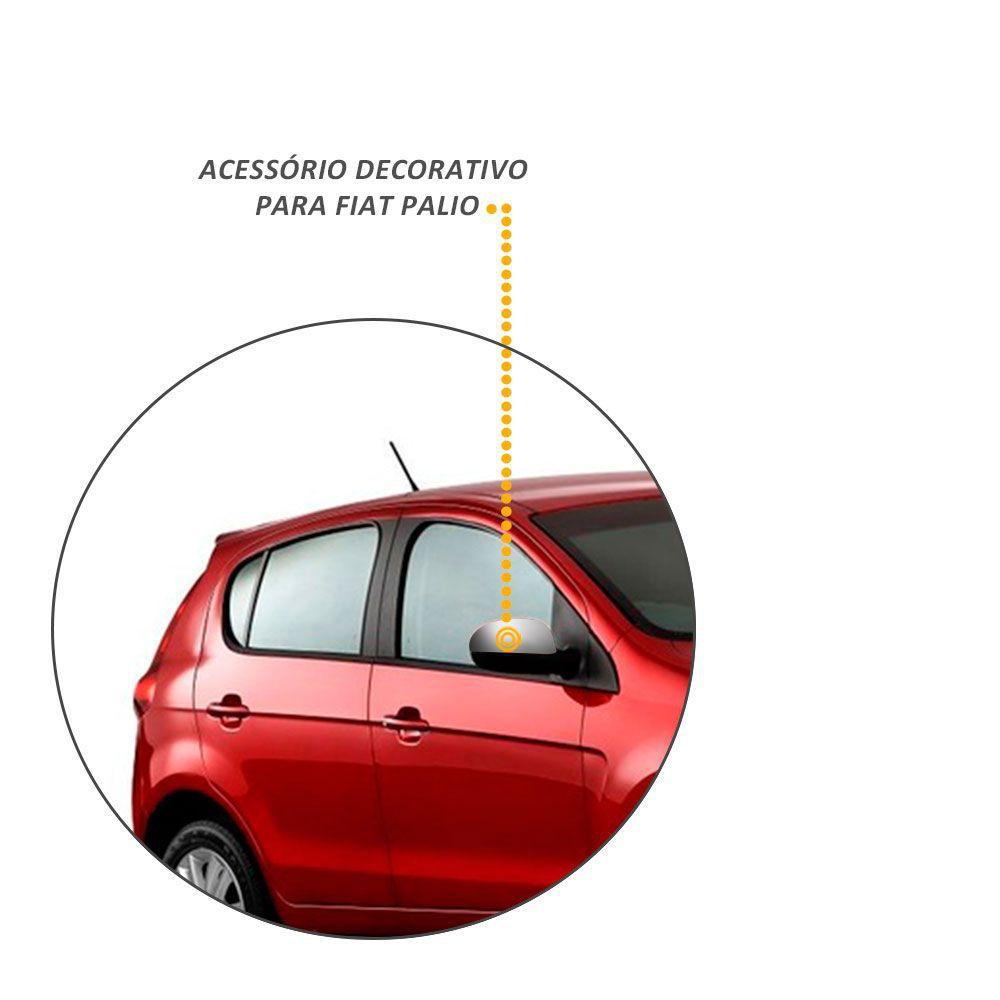 Par de Aplique Retrovisor Cromado Fiat Mobi e Palio