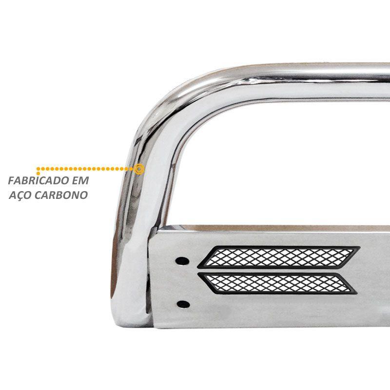 Parachoque de Impulsão Mata Boi Cromado Fiat Toro Flex