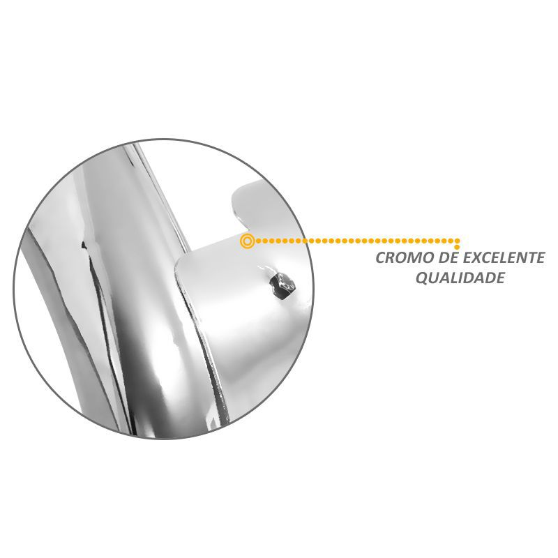 Parachoque de Impulsão Renault Duster Oroch 2015 2016 Cromado