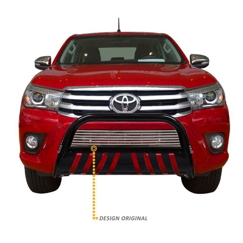 Parachoque de Impulsão Toyota Hilux 2016 Preto