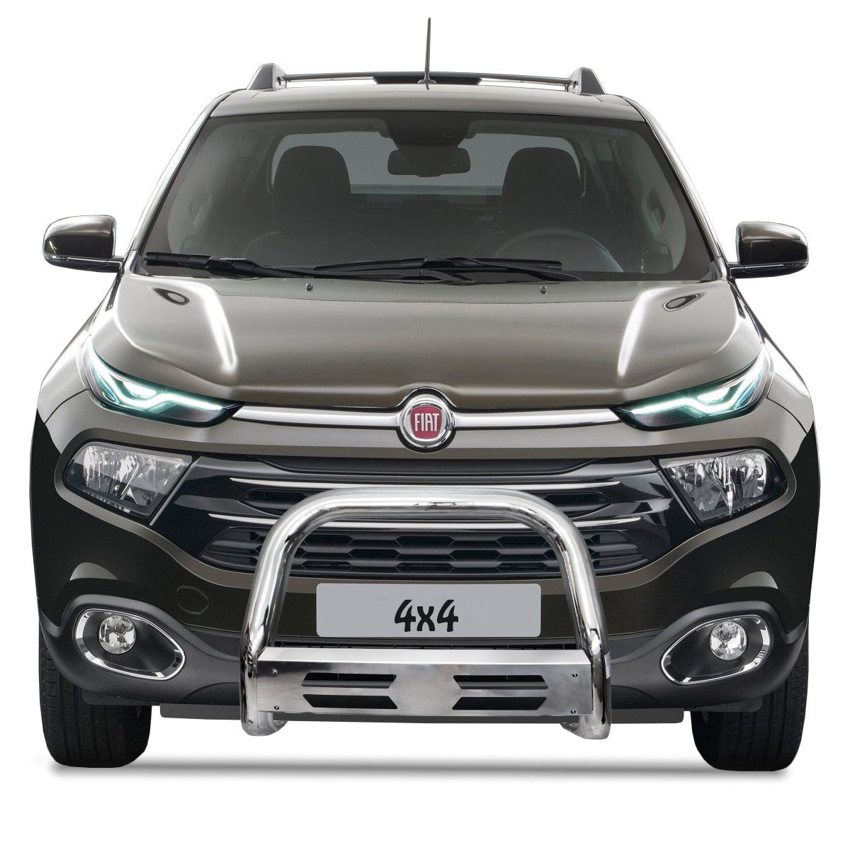 Parachoque Impulsão Fiat Toro 4x4 2016 a 2019 Mata Boi Cromado