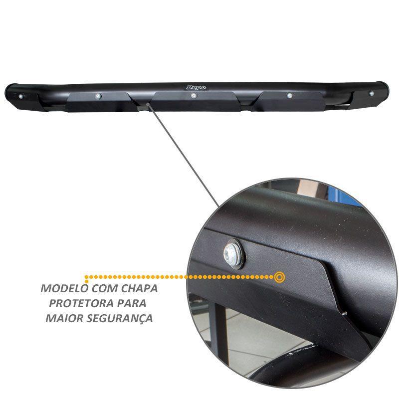 Protetor Parachoque Baixo L200 Triton Preto Fosco Mata Boi Bepo
