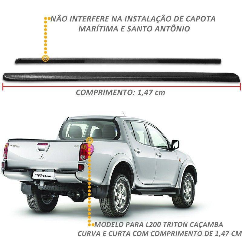 Protetor de Borda L200 Triton 2008 a 2018 Curva Lateral Caçamba