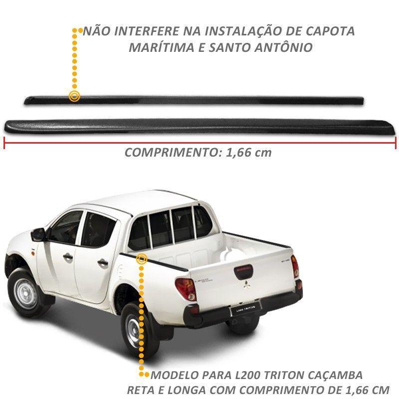 Protetor De Borda L200 Triton 2008 a 2018 Lateral Caçamba Reta