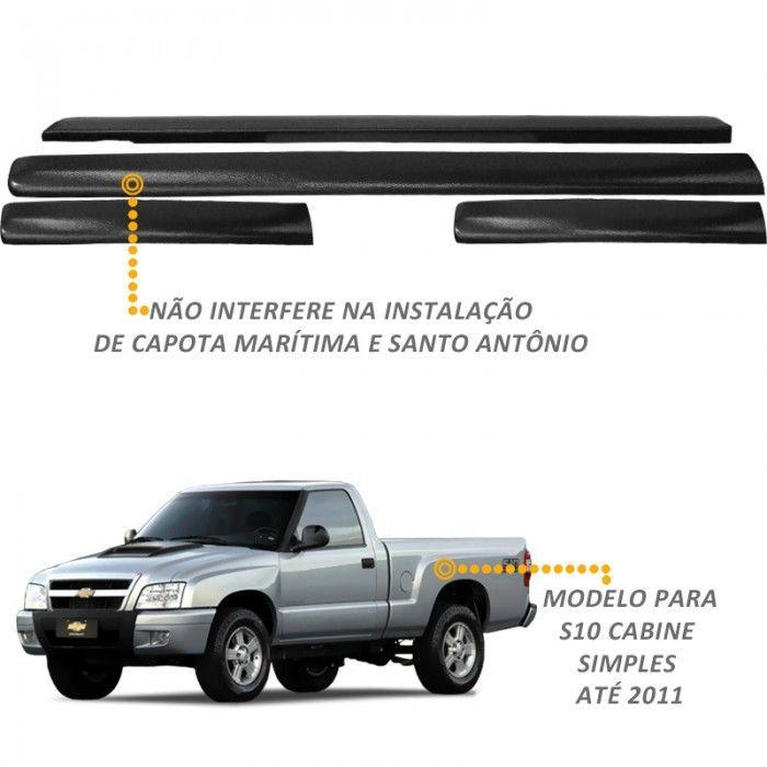 Protetor de Borda S10 Cabine Simples 1996 a 2011 Lateral Caçamba