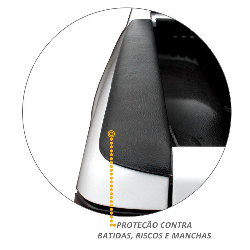 Protetor de Borda Toyota Hilux 2016 a 2019 Lateral Caçamba