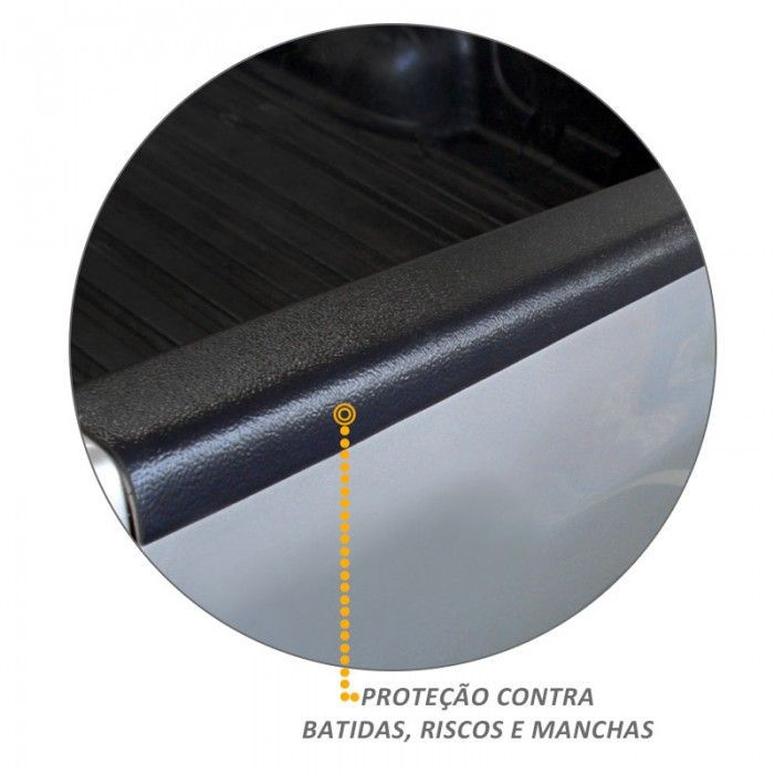 Protetor da Borda L200 Triton 2008 a 2018 XB Tampa Traseira