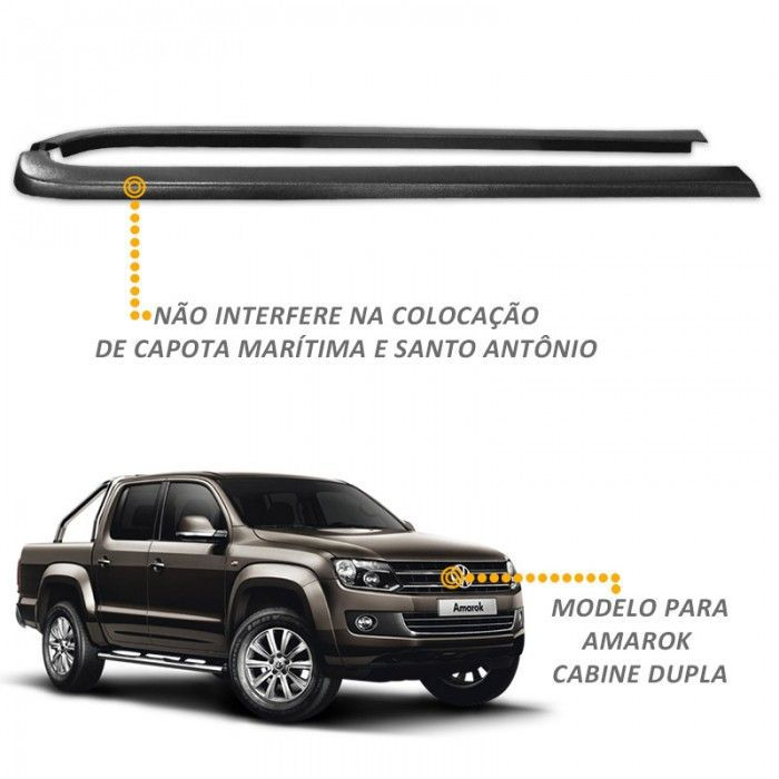 Protetor de Borda Amarok CD 2010 a 2018 Lateral Caçamba