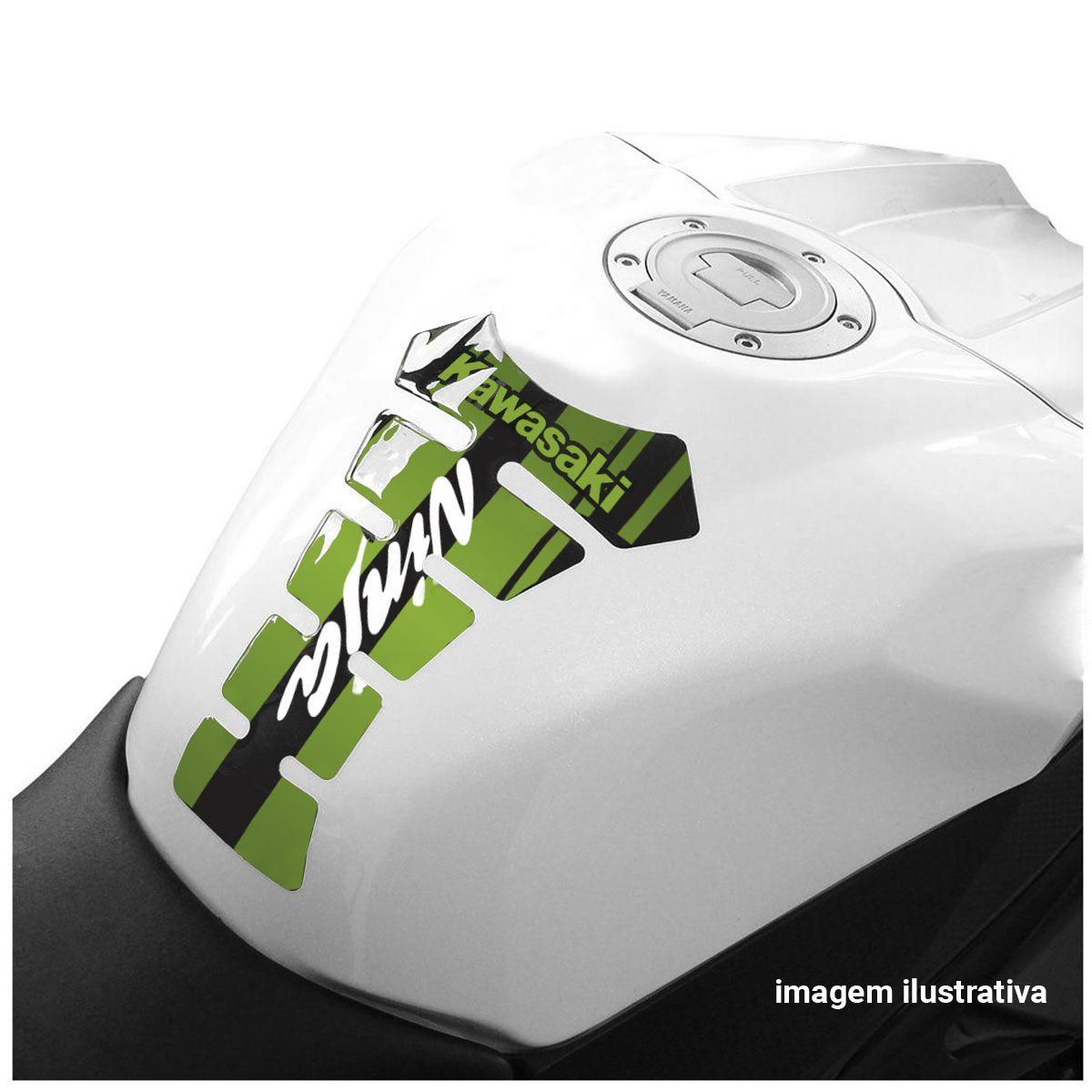 Protetor De Tanque Kawazaki Ninja Tank Pad Adesivo Resinado