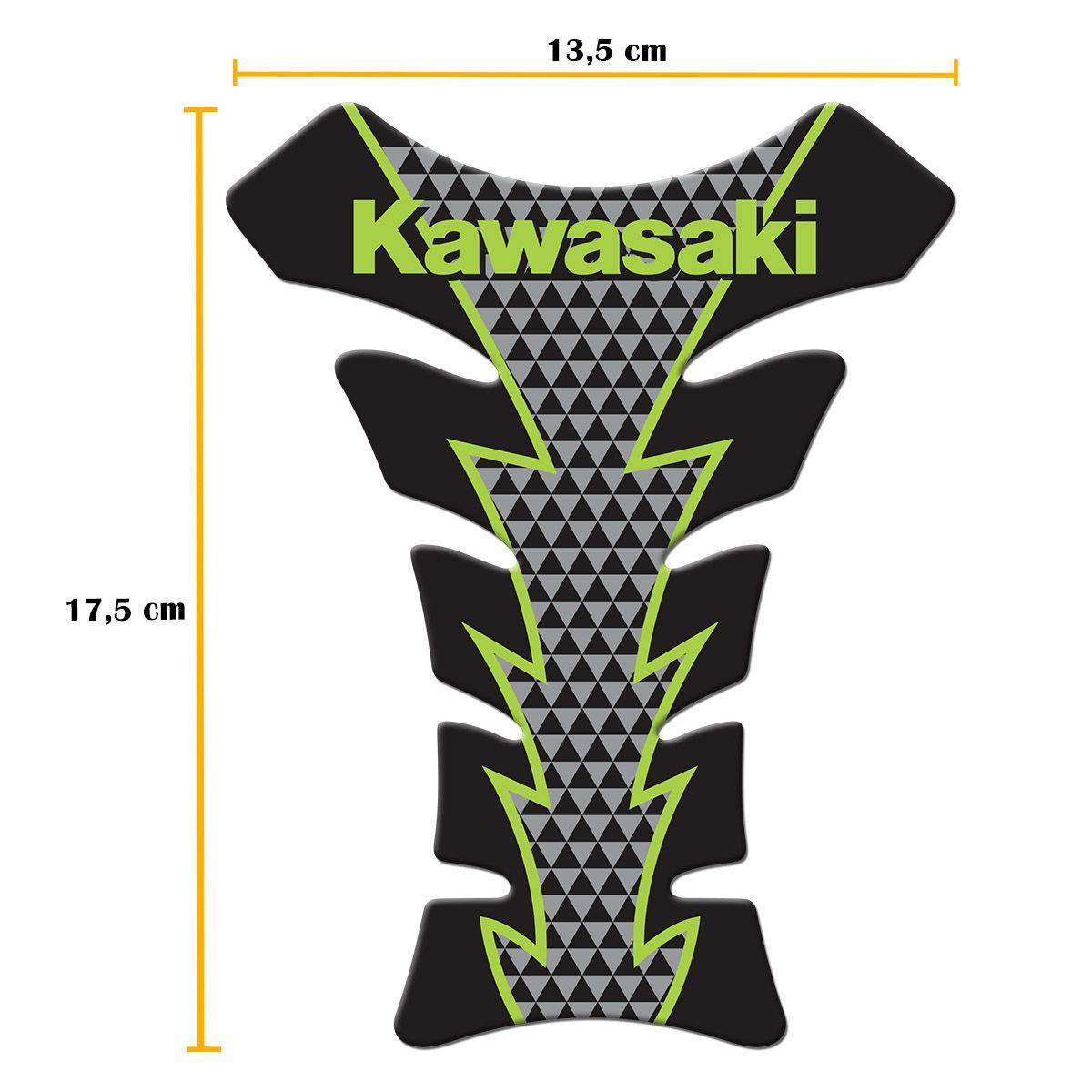 Protetor De Tanque Kawazaki Tank Pad Adesivo Resinado