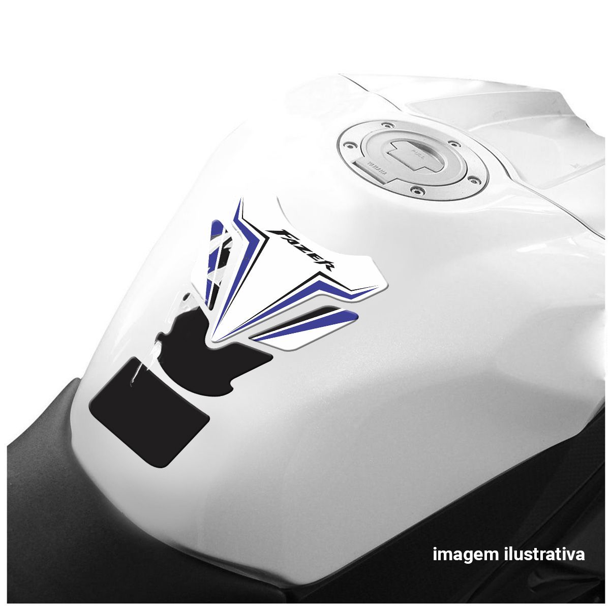 Protetor De Tanque Yamaha Fazer Tank Pad Adesivo Resinado