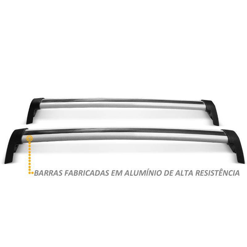 Rack Teto Travessa Novo Palio 04 Portas em Alumínio Prata