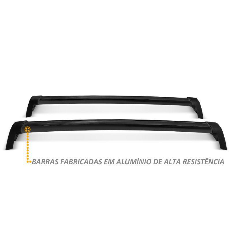 Rack de Teto Bagageiro Voyage G6 2 e 4 Portas Aluminio Preto