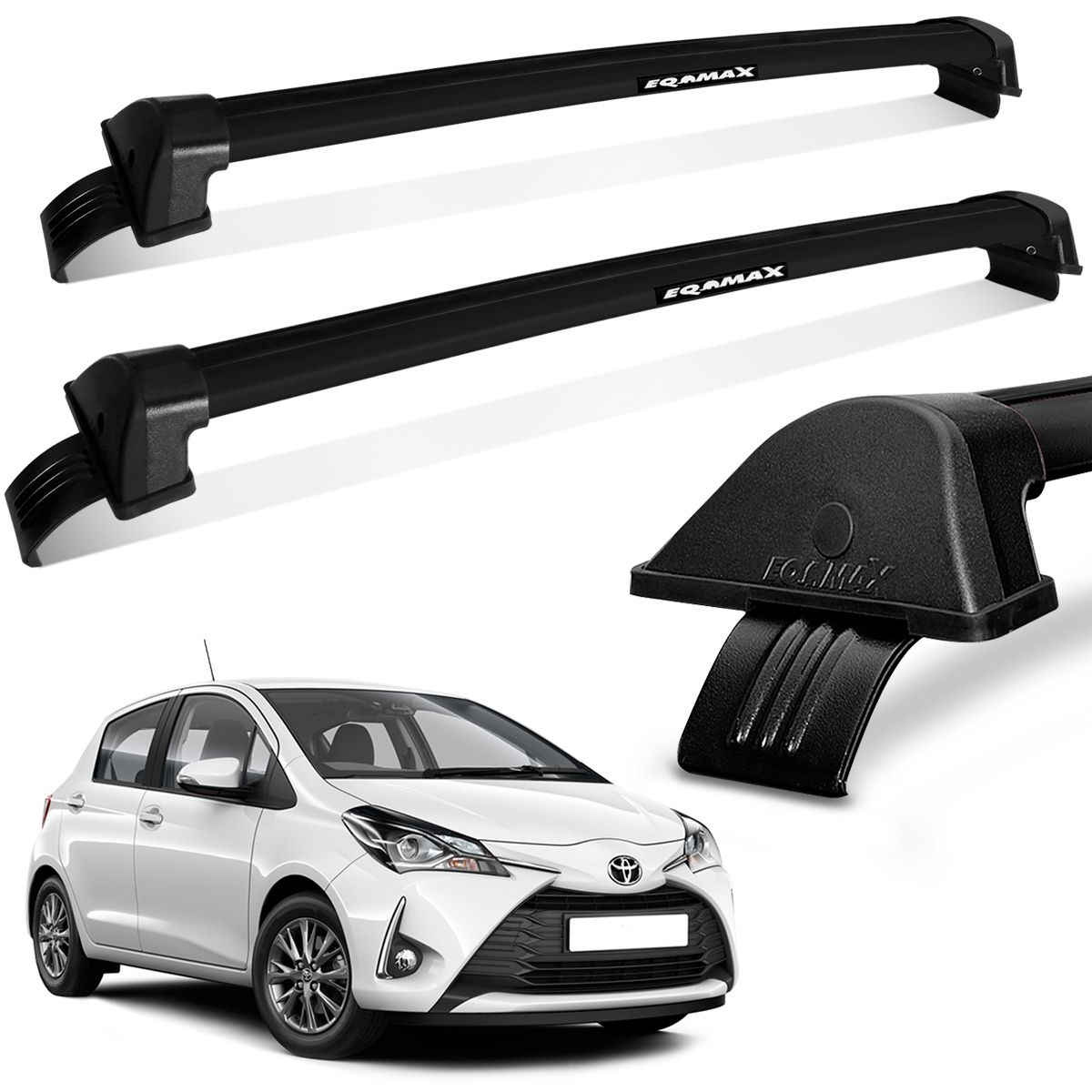 Rack De Teto Yaris 2018 a 2020 Aluminio Preto New Wave