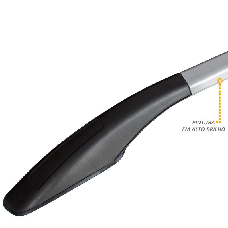 Rack Longarina Decorativa Universal VF em Aluminio Prata Mod 03