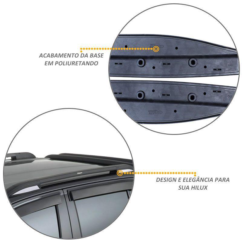 Rack De Teto Longarina Hilux 2016 a 2020 Aluminio Original Bepo