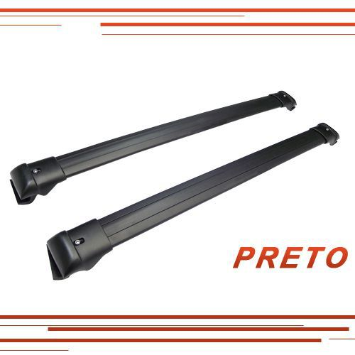 Rack Travessa Teto Larga Aluminio Preto ou Prata Univ 02Pçs