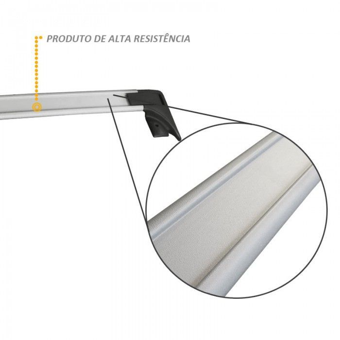 Rack Travessa Teto Traseiro em Aluminio Prata para Courier