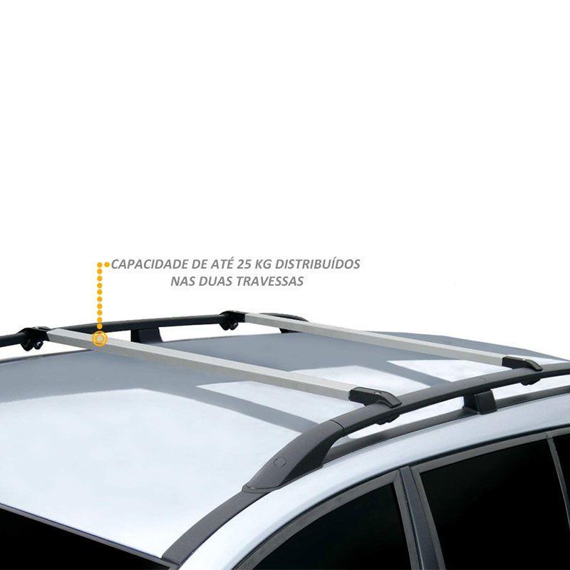 Rack travessa de Teto Fina Prata Para Chevrolet S10 e Blazer