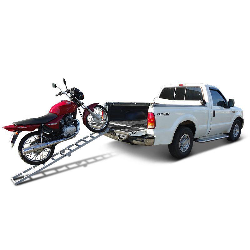 Rampa Para Moto Pickup Em Aço Carbono Universal 200Kg