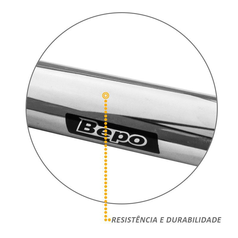 Santo Antonio Fiat Toro 2016 a 2019 Cromado Original Bepo