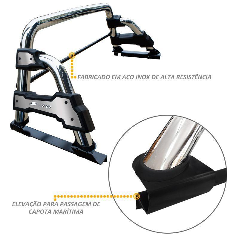 Santo Antonio S10 2012 a 2020 Cromado STR Sem Grade