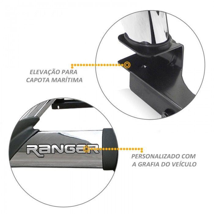 Santo Antonio Duplo Ranger 2013 a 2020 Cromado Com Grade