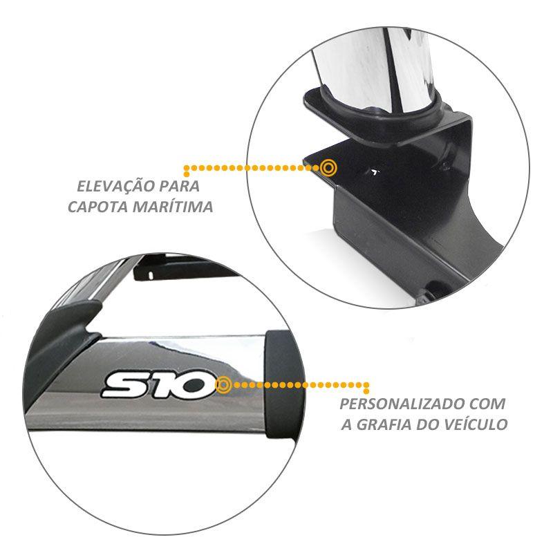 Santo Antonio Duplo S10 2012 a 2020 Cromado Com Grade