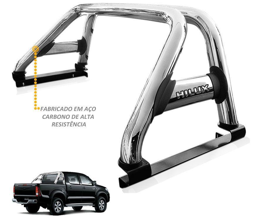 Santo Antonio Toyota Hilux 2005 a 2015 Duplo Cromado Sem Grade