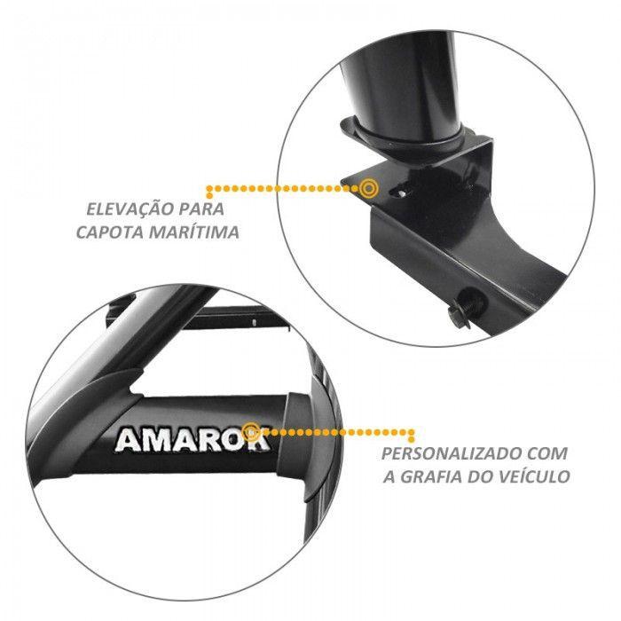 Santo Antonio Duplo Amarok 2010 a 2018 Preto Sem Grade