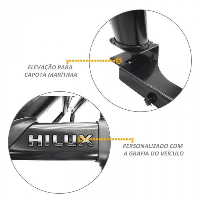 Santo Antonio Duplo Hilux 2012 a 2015 Preto Com Grade