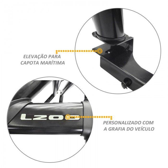 Santo Antonio Duplo L200 Sport Outdoor Preto Com Grade