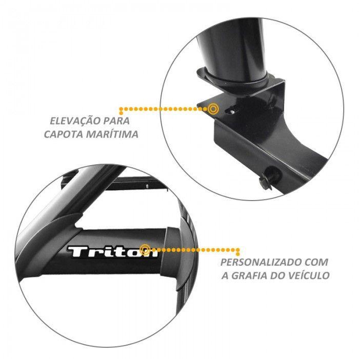 Santo Antonio Duplo L200 Triton 2008 a 2018 Preto Sem Grade