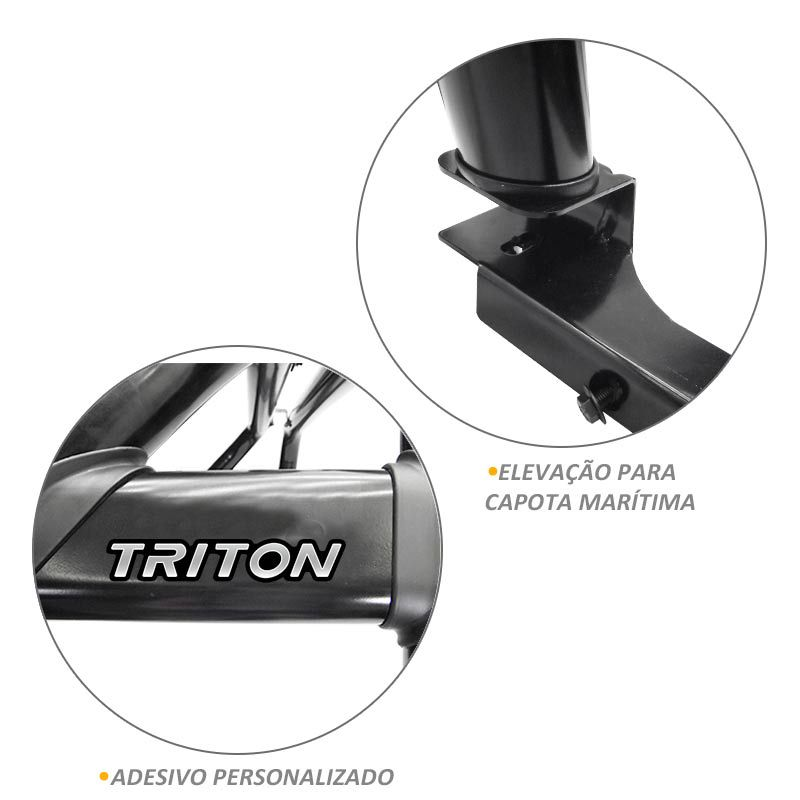 Santo Antonio Duplo L200 Triton Sport 2017 2018 Preto VF
