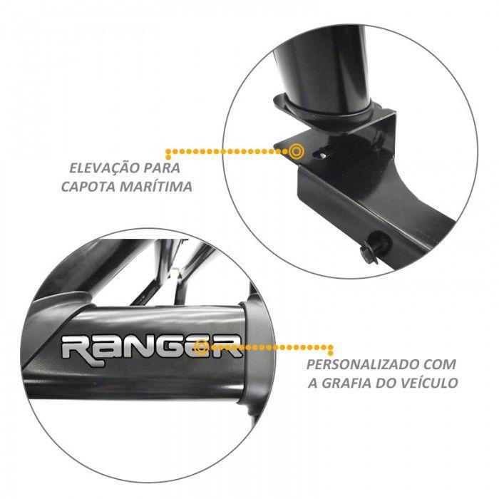 Santo Antonio Duplo Ranger 2013 a 2018 Preto Com Grade