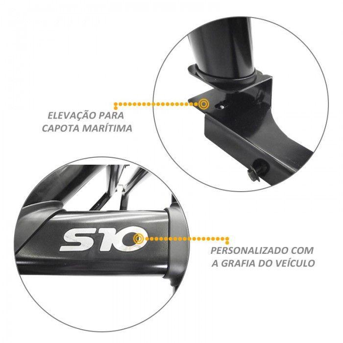 Santo Antonio Duplo S10 2012 a 2020 Preto Com Grade