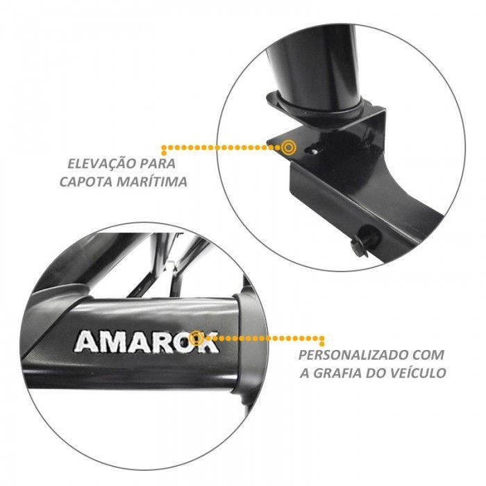 Santo Antonio Duplo Amarok 2010 a 2020 Preto Com Grade