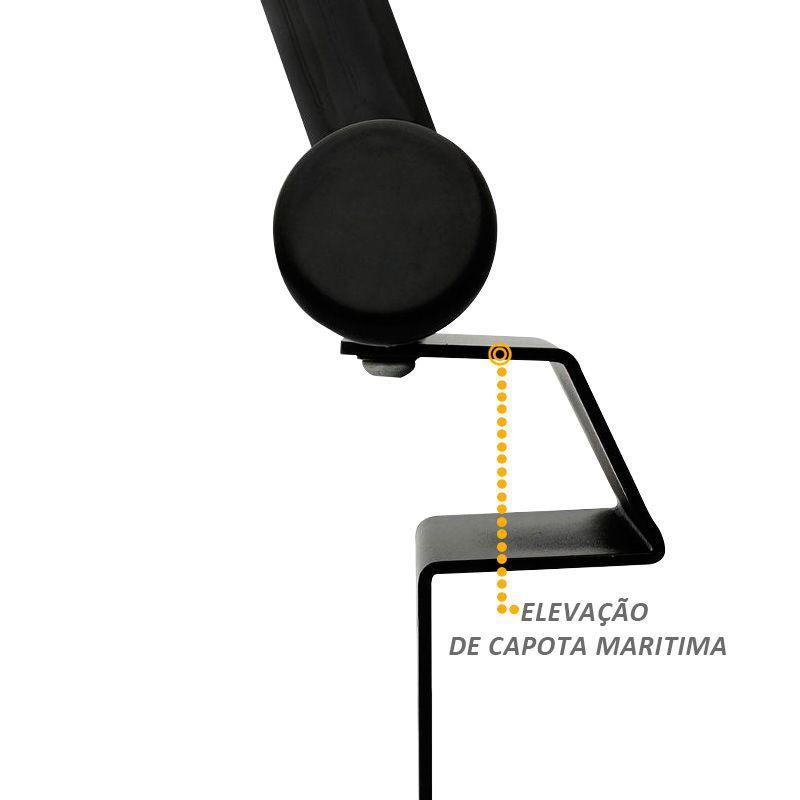Santo Antonio Fiat Toro 2016 a 2018 Preto Fosco Bepo