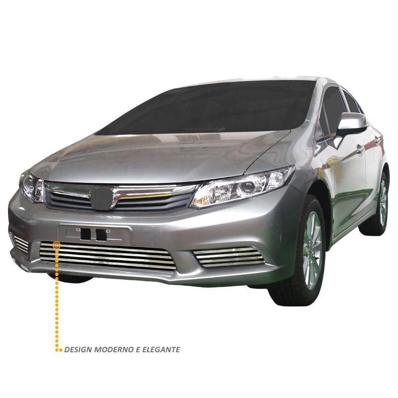 Sobre Grade Civic 2012 a 2014 Em Aço Inox Cromada Elite