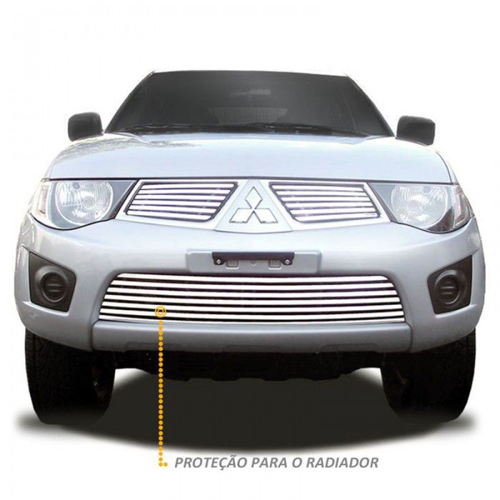 Sobre Grade L200 Triton XB 2011 a 2012 Aço Inox Elite