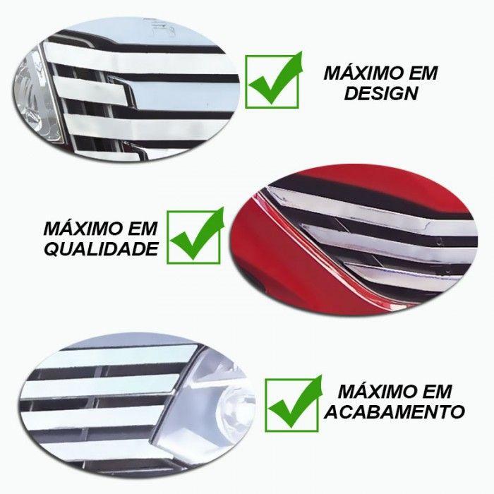 Sobre Grade S10 2012 a 2016 Aço Inox Cromada Filetada Maxx