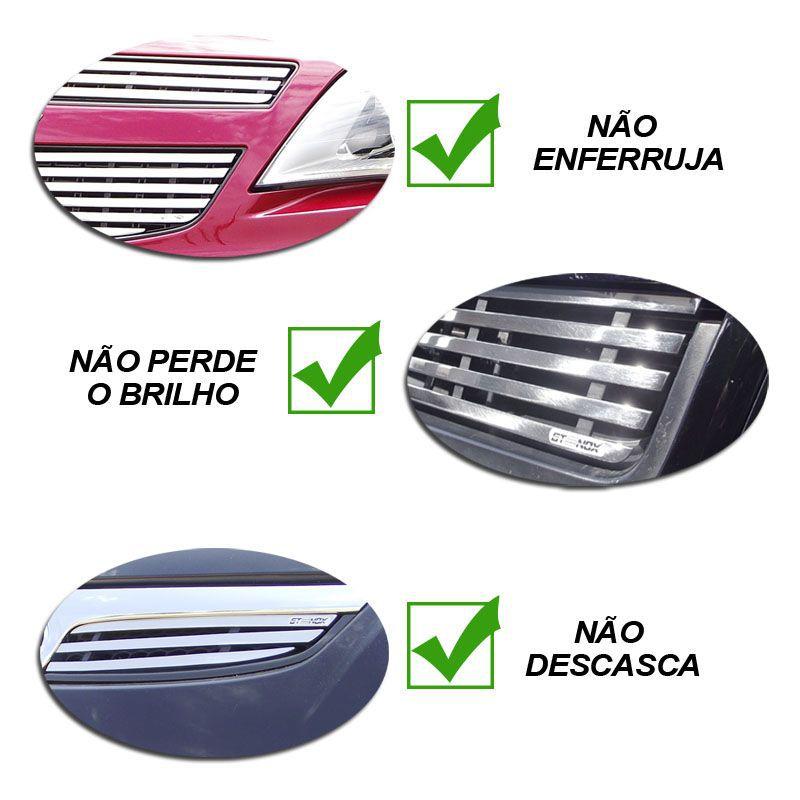 Sobre Grade Prisma 2013 a 2016 Aço Inox Cromada Filetada