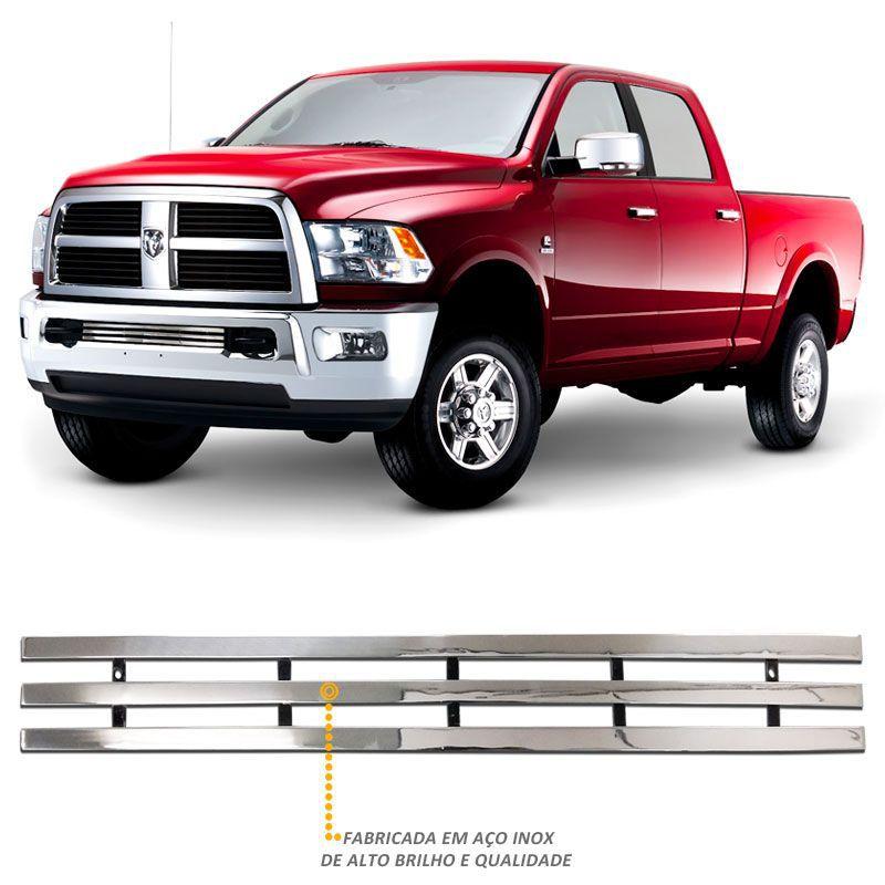 Sobre Grade Dodge Ram 2012 a 2016 Inferior Aço Inox Cromada