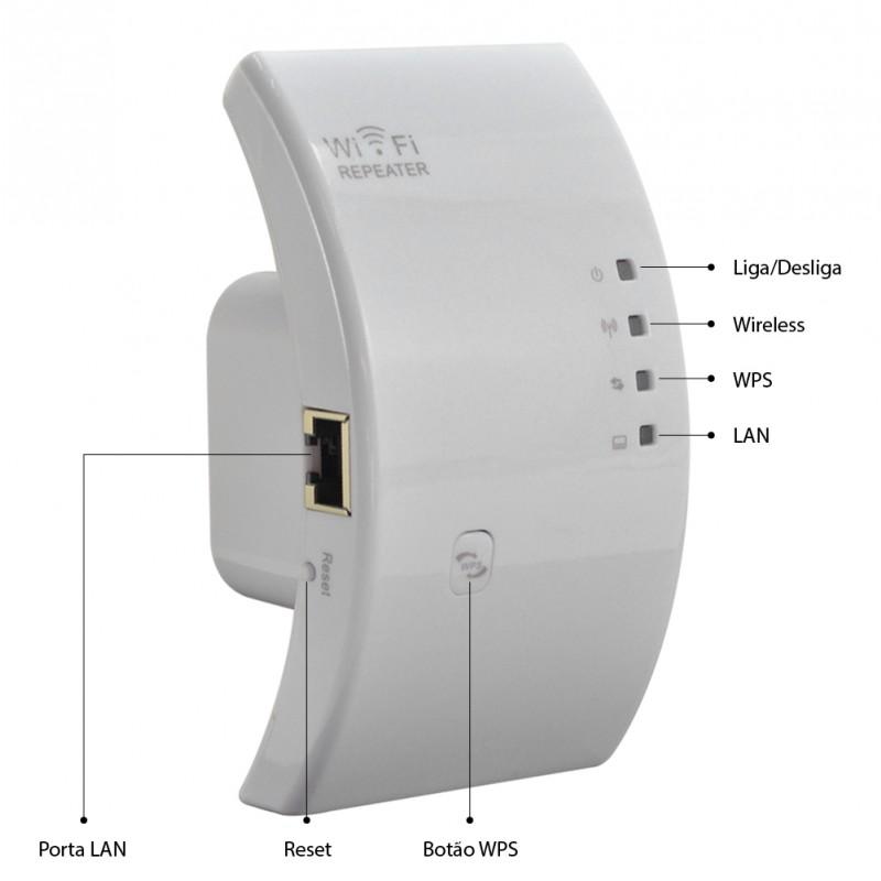 Repetidor Expansor De Sinal Wifi Wireless 300mbps Roteador