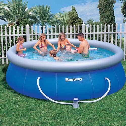 Piscina bestway fast set azul filtro p piscina for Piscinas de plastico baratas alcampo
