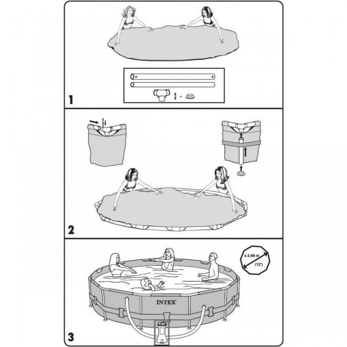 Piscina Intex 4.485 Litros Estrutural Com Bomba Filtrante