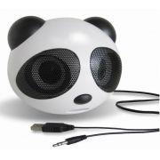 Mini Caixa De Som Panda Portátil Recarregável Rádio Fm e USB