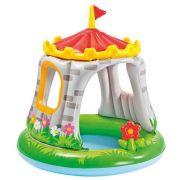 Piscina Inflável infantil c/ cobertura Castelo - Intex