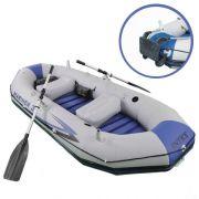 Bote Inflável Intex Mariner 3 C/ Par Remos Bomba Barco Pesca e Suporte Motor