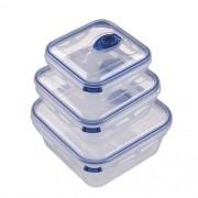 Conjunto Potes Conservantes Médio Azul ou Verde 700ml, 1,5l E 3l Mor